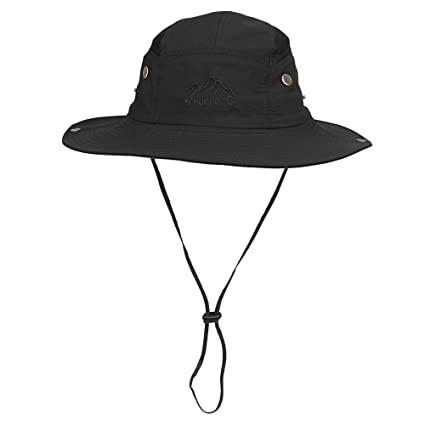 e9029679c3b16e Vadventure Summer Mens and Womens Safari Hat Wide Brim Waterproof Fishing Caps  Sun Protection Boonie Hats