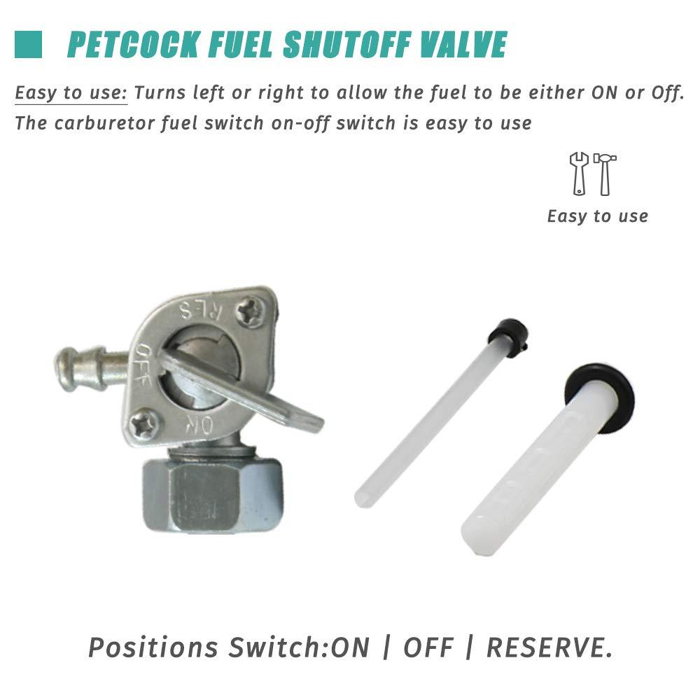 Apeixoto Fuel Petcock Gas Tank Shut Off Valve Compatible with Honda XL75 XR75 XR80 ATC185 ATC185S ATC200 ATC200E ATC200ES ATC200M ATC200S ATC200X TRX20 with Replace OE # 16950-149-025 16950-168-015
