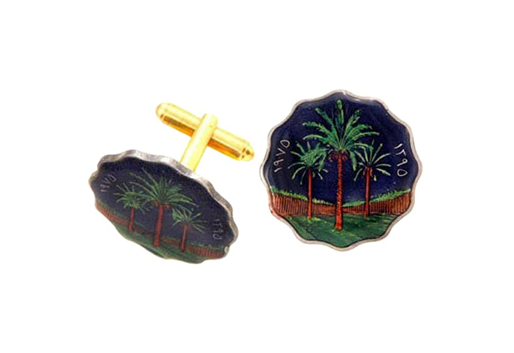 イラクPalm Tree Coin Cufflinks   B011QL69YC