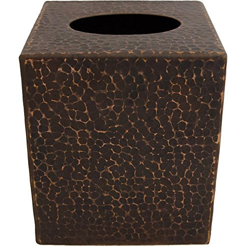 Small Hand Hammered Copper Tissue Box Cover -