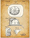 Firefighter Helmet - 11x14 Unframed Patent Print - Great Gift for Firefighters