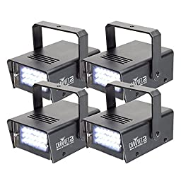 Chauvet DJ Mini Strobe LED Strobe Light 4 Pack