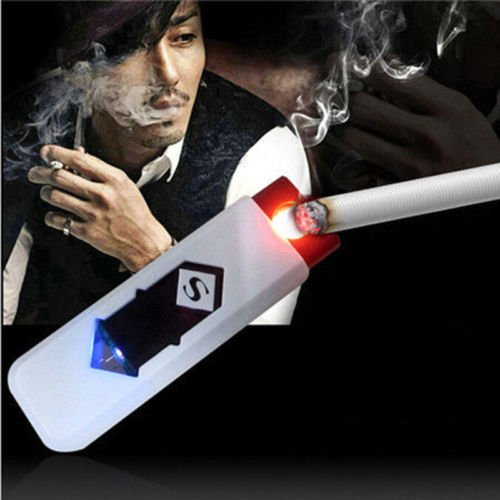 MAZIMARK--USB Electric Battery Rechargeable Flameless Collectible Lighter Cigar - Designer List Outlets Uk