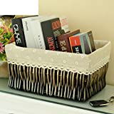 storage basket/ rattan storage box/Desktop snack debris basket in the kitchen-F 27x17cm(11x7inch)