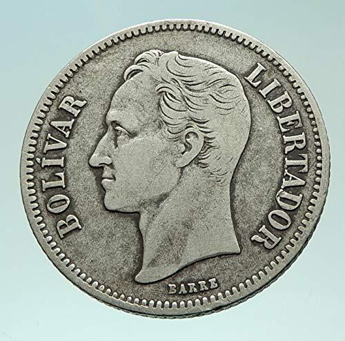 1936 unknown 1936 Freemason President Simon Bolivar VENEZUELA coin Good Uncertified