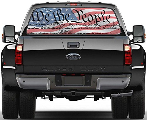 American Flag We The People Rear Window Decal Sticker Car...