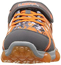 Stride Rite Leepz Light Up Sneaker (Toddler/Little Kid),Leepz/Grey/Orange,9 M US Toddler