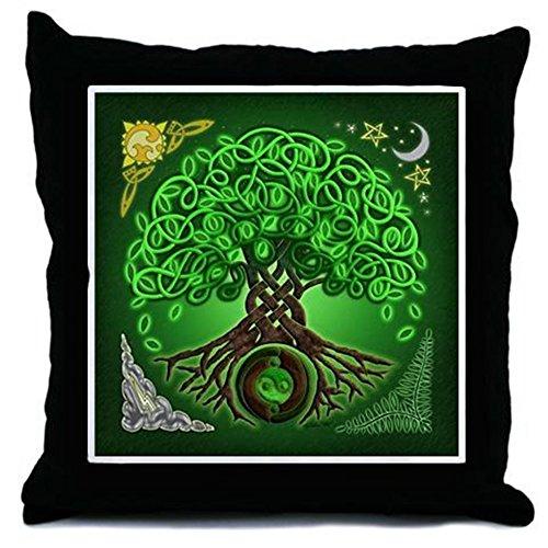CafePress Circle Celtic Tree Of Life - Decor Throw Pillow (18