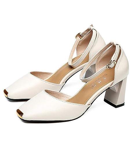 GruesoMedioUna Hebilla De Hebilla De Zapatos Zapatos Zapatos MujerTacón MujerTacón GruesoMedioUna De XZiOPkuT