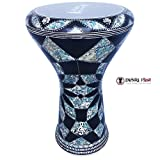 The 17'' Diamond Star With Blue Mother of pearl Gawharet El Fan Darbuka Doumbek