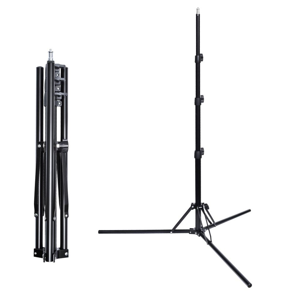 Fotoconic 6 ft/185cm Compact Portable Reverse Legs Aluminum Light Stand for Studio Photo Video Lighting