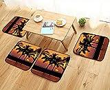 Leighhome Comfortable Chair Cushions Decor Caribbean Horizon Dusk Time Romantic Peaceful Coastal...