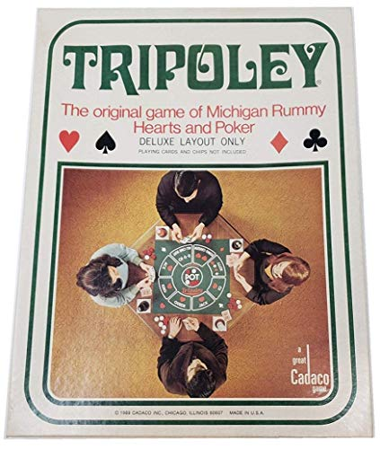 Tripoley: The 1969 Original game of Michigan rummy, Hearts and Poker [Deluxe Edition No. 111]