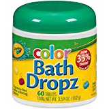 #2: Crayola Color Bath Dropz 3.59 Ounce (60 Tablets)
