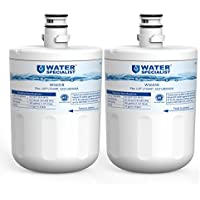 Waterspecialist LT500P Replacement Refrigerator Water Filter, Compatible with LG LT500P, 5231JA2002A, GEN11042FR-08, LFX25974ST, ADQ72910901, ADQ72910907, Kenmore 9890, 46-9890, 469890 (Pack of 2)