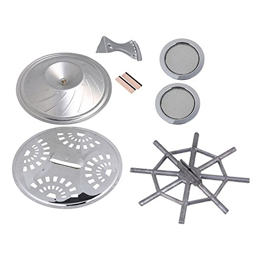 BQLZR Silver Wood Dobro Guitar Parts Set Resonator Cones Soundhole Screens Tailpiece Spider Bridge Saddle Pack of (Resonator Cone)
