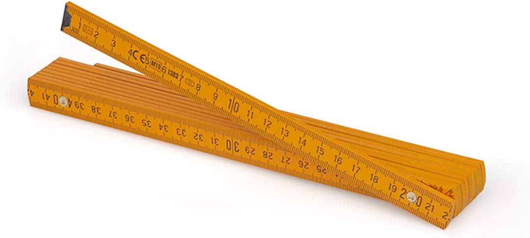 Duplex Scale with Angle Manufactured in Europe Metrie/™ Block52 Folding Ruler//Rulers 2m