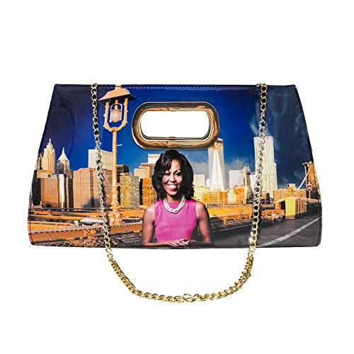 Michelle Obama Hot Style Metal Grip Clutch (Multicolored) ()