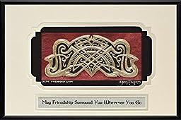 Celtic Friendship Knot - Cast Paper - Irish art - Celtic art - Scottish art - Celtic knot - anamchara - friend gift