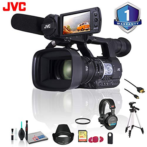(JVC GY-HM620 ProHD Mobile News Camera Wireless Shutter Release, Tripod and More )