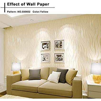 Bedroom Wallpaper, 10M Non Stick Modern Decorative Wallpaper Roll  Contemporary Living Room Wallpaper (US Stock)