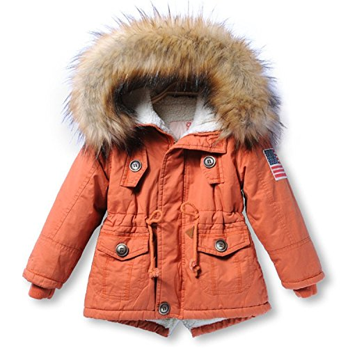 Thick Children Jackets Girls Boys Coats Hooded Faux, used for sale  Delivered anywhere in USA