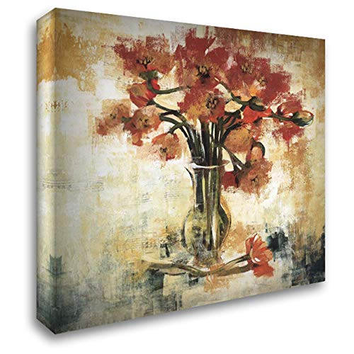 Symphony of Poppies 53x53 Extra Large Gallery Wrapped Stretched Canvas Art by Jardine, Liz