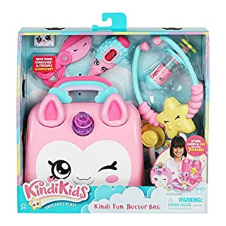 Kindi Kids Doctor Bag - Kindi Fun Unicorn Toy Doctor Bag with Shopkins Thermometer and Many More Accessories, Multicolor (50037)
