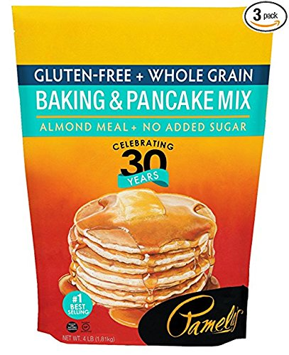 Pamela's Products Gluten Free Baking and Pancake Mix, 4-Pound Bags (Pack of 6) by Pamela's Products