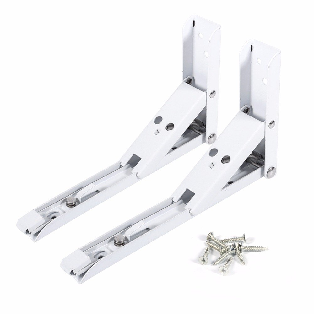 2pcs/set (14inch) Good Quality Steel Folding Bracket for Kitchen Bathroom Wall Mounted Shelf Brackets