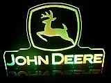 John Deere Tractor Logo LED Lamp Night Light Signs