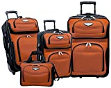 Traveler's Choice Amsterdam 4-Piece Luggage Set, Orange
