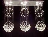 Modern Contemporary Chandelier Triple Rain Drop Chandeliers Lighting H31 X W39 X L10 For Sale