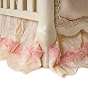 Glenna Jean Crib Skirt Victoria Dust Ruffle for Baby Nursery Crib