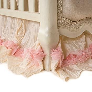 Image of Baby Glenna Jean Crib Skirt Victoria Dust Ruffle for Baby Nursery Crib