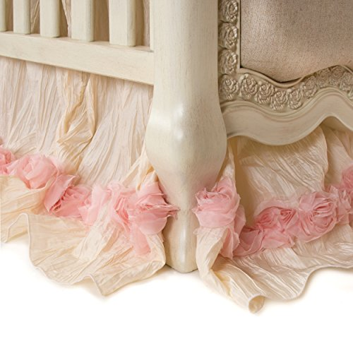 Cotton Skirt Glenna Jean Crib (Glenna Jean Crib Skirt Victoria Dust Ruffle for Baby Nursery Crib)