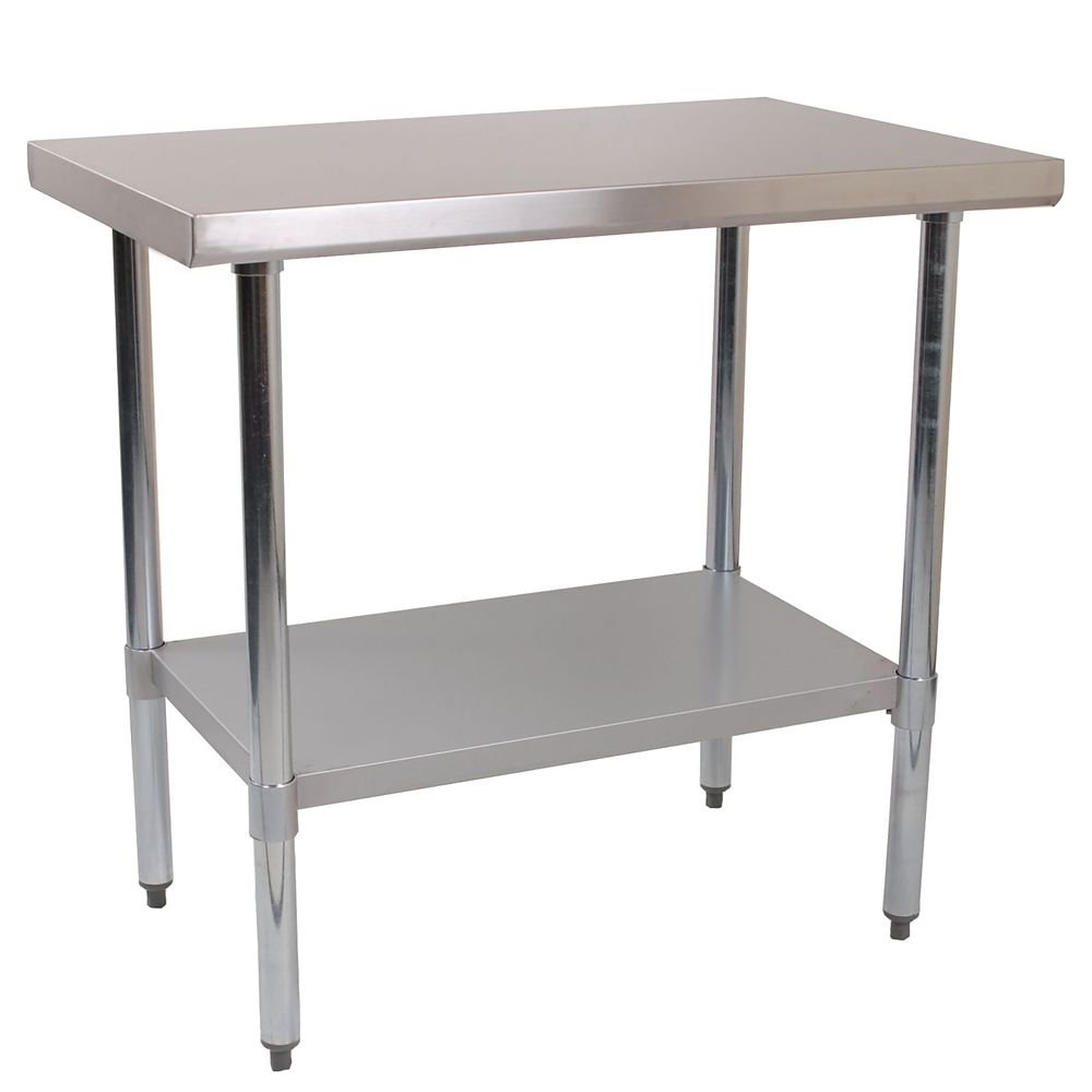 Restaurant Series WH-WTR2424B S/S 24'' x 24'' Work Table