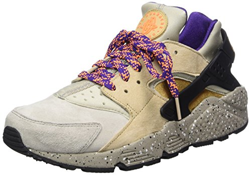 Nike Air Huarache Run Mens Sneakers 704830-200 Lino / Oro Beige-nero