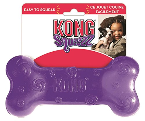 UPC 035585032085, KONG Squeezz Bone Dog Toy, Large, Colors Vary