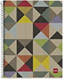 Miquelrius EcoOrigami Cardboard Notebook, (8.5 x 11, 4-Subject, College Ruled) 120 SHEETS