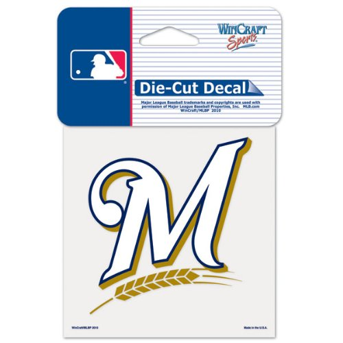 (WinCraft MLB Milwaukee Brewers 93836010 Perfect Cut Color Decal, 4