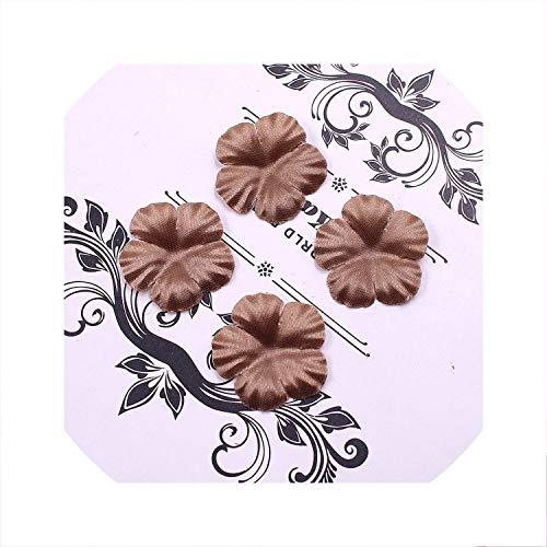 wing 100Pcs Artificial Flowers Roses Petal Leaf Silk for Wedding Home Decoration DIY Scrapbooking Flores Accessories Plant Ordeep Brown