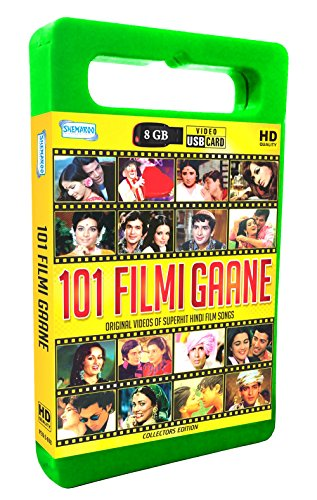 Price comparison product image 101 Filmi Gaane 8 GB Hindi Superhit Film Songs Music Card