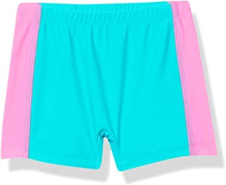 product image for City Threads Girls' Swimming Bottom Boy Short with Side Panels UPF50+ Rash Guard Swim Made in USA
