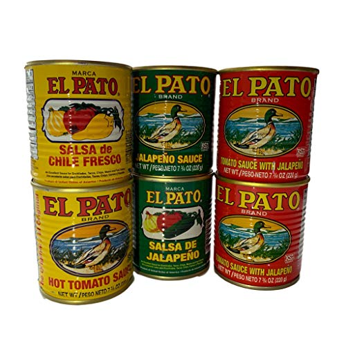 El Pato Assorted Sauce Pack! 2 Each All 3 Flavors Included! Now Your Meal Tastes Authentic! (Assorted Hot Sauces)