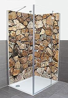 Artland Dusche Bad Rückwand Wandverkleidung Aus Aluminium Verbund Platte  Motiv Meepoohyaphoto Braune Steinwand Architektur Architektonische Elemente