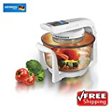 German Pool® 120V Multi-Purpose 12 Litre Halogen Cooking Pot Combining Electric Grill, Rice Cooker, Conventional Oven, Microwave Oven, Toaster, Stewing Pot and Skillets.