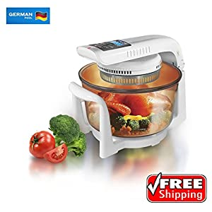 German Pool 120V Multi-Purpose 12 Litre Halogen Cooking Pot Combining Electric Grill, Rice Cooker, Conventional Oven, Microwave Oven, Toaster, Stewing Pot and Skillets
