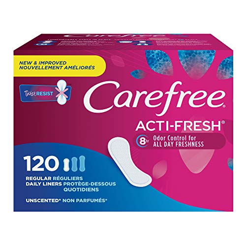 Carefree Acti-Fresh Pantiliners, Unscented, Regular, 120 Count
