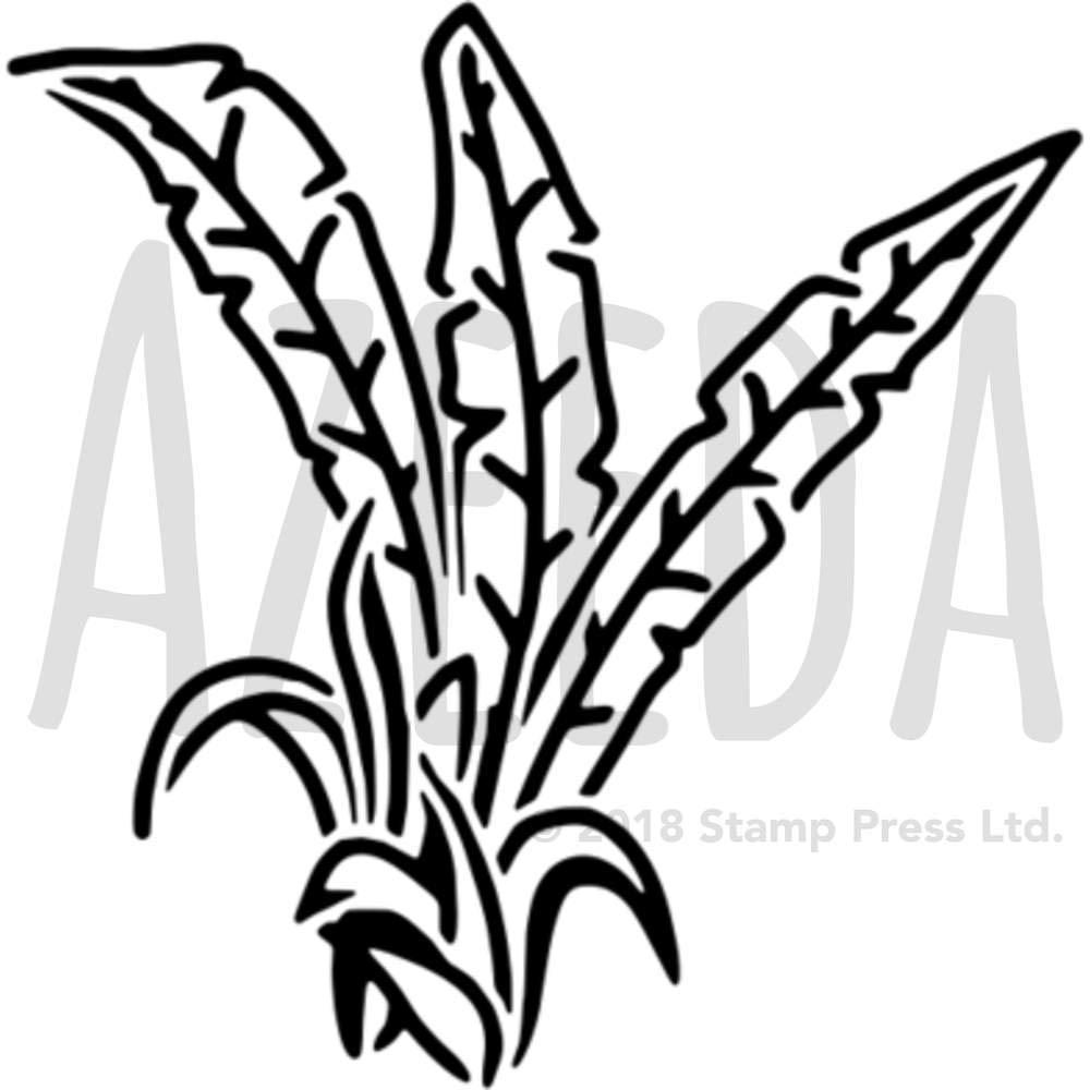 WS00030112 A5 Hojas Tropicales Plantilla de Pared Estarcir